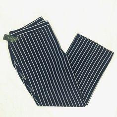 df5a3ef5685 Ralph Lauren Woman Pants Size 20W Nautical Navy White Striped NWT  Lightweight  LaurenRalphLauren  Nautical