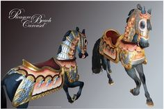 carousel ponies | Carousel Horse Photo Poster PBC 29 Armored Lead ... | Painted Ponies