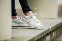 PUMA SUEDE CREEPER WHITE GOLD FENTY RIHANNA SNEAKER TOE NEW WOMENS SIZE 6-10