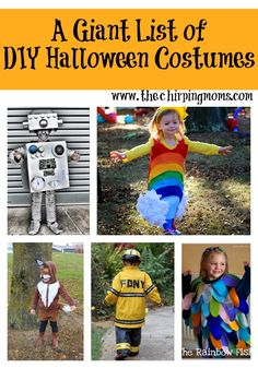 A GIANT list of DIY Halloween Costume Ideas || The Chirping Moms