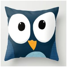 (NEW) Blue Owl Throw pillow! Click the picture to get more information on how to get your very own! :D