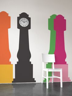 Studio Jan Habraken - Grandfather Clock - These are wall decals, but why not paint?