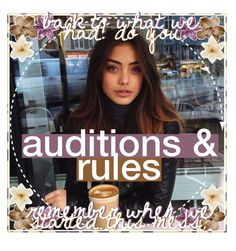 """auditions & rules ♡ amanda"" by the-poly-battles ❤ liked on Polyvore featuring art, kaitlinicons and thepolybattlesaudish"