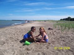 On the Beach just north of Port Sanilac Harbor in the thumb of Michigan