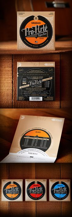 D'Addario Pro Arté - Classical Guitar Strings  Have you seen this beautiful new packaging?