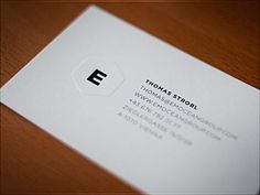 Dribbble - emocean group embossed Business Cards by Thomas Strobl