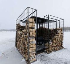 Woodpile cabin