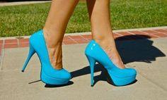 Fashion trend of blue cool high heels nice pretty - image 421022 on Favim.com