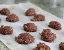 No-bake cookies using chocolate chips. My dad makes these! The best ever!