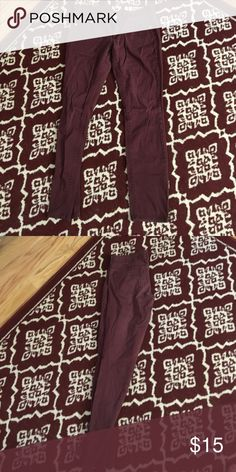 Burgundy pants Super comfy Pants Ankle & Cropped