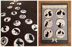 Sticker * Aufkleber - aus alten Buchseiten * DIY