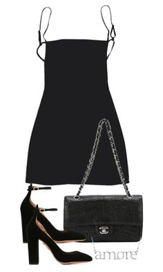 """""""Untitled #4320"""" by theeuropeancloset on Polyvore featuring Chanel and Aquazzura"""