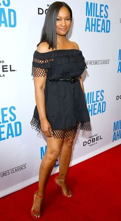 """Garcelle Beauvais Photos - Actress Garcelle Beauvais attends the premiere of Sony Pictures Classics' """"Miles Ahead"""" at Writers Guild Theater on March 2016 in Beverly Hills, California. - Premiere of Sony Pictures Classics' 'Miles Ahead' - Red Carpet Garcelle Beauvais, Black Actresses, Night Looks, Fashion Gallery, Beautiful Gorgeous, Fashion Models, Nice Dresses, Red Carpet, Peplum Dress"""