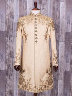 Mens Sherwani and Indowestern Wedding Dresses Men Indian, Wedding Outfits For Groom, Wedding Dress Men, Bridal Outfits, Wedding Suits, Mens Sherwani, Wedding Sherwani, Indian Groom Wear, Indian Wear