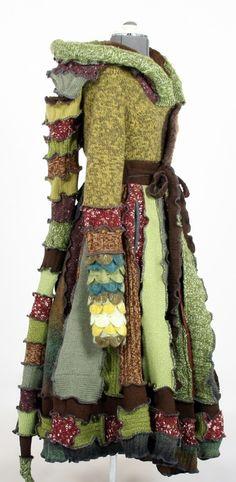 Layered jacket with long elfish hood...OMG I want one!