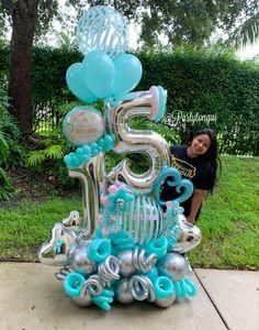Birthday Balloon Decorations, Balloon Crafts, Birthday Balloons, Balloon Stands, Balloon Display, Balloon Arrangements, Balloon Centerpieces, Large Balloons, Number Balloons