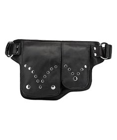 This Black Studded Garen Leather Waist Pack by Vicenzo Leather is perfect! #zulilyfinds