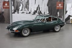 Green Jaguar E-Type   more newer car is the new Jaguar which I really like but sure it can ...