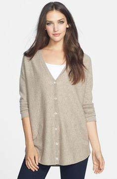 Eileen Fisher Fine Gauge Cashmere V-Neck Cardigan available at #Nordstrom