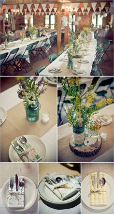 mason jar wedding florals  http://zwickerhillphotography.com