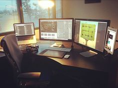 My office set up. I would post a higher res photo but since this was taken with an iPhone it doesn't look that great. From left to right: - 15 Inch Mac Book Pro Retina on Rain Design inStand - Be...