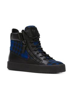 Giuseppe Zanotti Design Check Hi-top Sneakers - O' - Farfetch.com