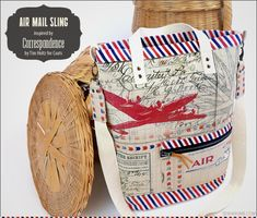 Air Mail Shoulder Sling Satchel: Correspondence by Tim Holtz for Coats   Sew4Home