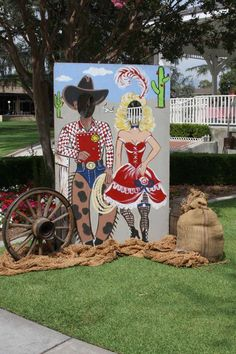 Photo booth at a western cowboy party! See more party planning ideas at CatchMyParty.com!