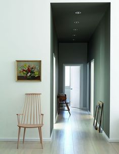 Still Mad About … Grey Paint Colours corridor wall in grey moss 234 and cool arbour 232 facing wall in wood ash 229 Little Greene Farbe, Little Greene Paint, Contemporary Hallway, Modern Hallway, Shades Of Grey Paint, Grey Paint Colors, Hall Paint Colors, Hallway Inspiration, Interior Design Inspiration