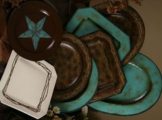 Western Dinnerware and Metal Chargers