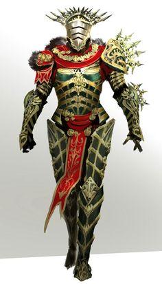 Golden armor, a bit feminine (not a bad thing) as it's still badass.