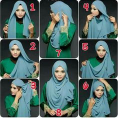 & tq for simply toturial hijab Square Hijab Tutorial, Simple Hijab Tutorial, Hijab Style Tutorial, How To Wear Hijab, How To Wear Scarves, Stylish Hijab, Hijab Chic, Easy Hijab Style, Mode Turban