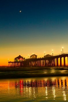 Huntington Beach, Opera House, Celestial, Sunset, Building, Travel, Outdoor, Outdoors, Viajes