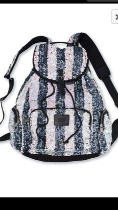 VS PINK bling backpack used maybe twice. practically brand new. make an offer :) PINK Victoria's Secret Bags Backpacks Sequin Backpack, Striped Backpack, Backpack Bags, Canvas Backpack, White Backpack, Rucksack Bag, Drawstring Backpack, Cute Backpacks, Awesome Backpacks