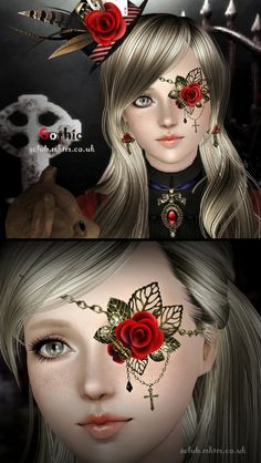 Gothic Accessories Set at S Club Privee - Sims 3 Finds