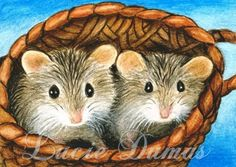 ACEO art print Hamster 6 by Lucie Dumas by artbyLucie on Etsy, $5.00