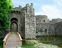 Beaumaris Castle Angelsey Wales Moat Gate Bridge