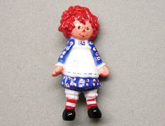 Vintage Hallmark Raggedy Ann Plastic Pin by COBAYLEY on Etsy