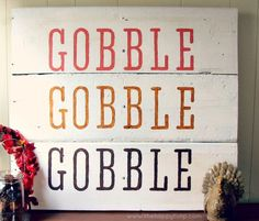 Fall Nesting: DIY Thanksgiving Sign {Day 24} [Thanksgiving Craft] | The Happy Tulip