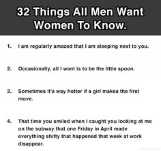 wedding decorations 32 Things All Men Want Women To Know. #19 Is So True. (click pic to see ) http://youtube.com/watch?v=BQruHJM8wK4