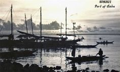 Sunset at Port of Cebu. was and always will be beautiful. Philippines Cebu, Sailing Ships, Boat, Sunset, Comics, Photos, Painting, Beautiful, Dinghy