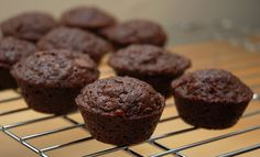 Substituting black beans for flour--not as disgusting as it sounds! These high-protein muffins are even toddler-approved! :)