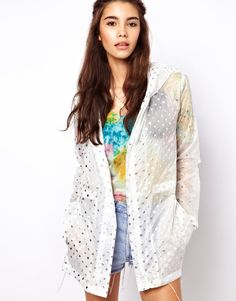 ASOS Pac A Parka In Metallic Spot