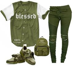 Blessed Baseball Jersey – olive - Womanly, Sport, fitness,and everything Swag Outfits For Girls, Lazy Day Outfits, Cute Swag Outfits, Tomboy Outfits, Chill Outfits, Teen Fashion Outfits, Teenager Outfits, Dope Outfits, Trendy Outfits