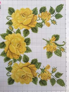 Cross Stitch Rose, Cross Stitch Flowers, Cross Stitch Charts, Cross Stitch Designs, Cross Stitch Patterns, Cross Stitching, Cross Stitch Embroidery, Free To Use Images, Embroidered Cushions