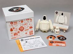 Freeman Robotics Package Contents by Christopher Lee. #branding #identity #illustration