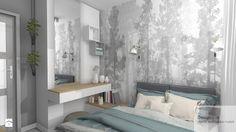 Kompaktowa sypialnia - Mała sypialnia małżeńska, styl skandynawski - zdjęcie od Designbox Marta Bednarska-Małek