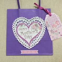 Handcrafted Mother's Day gift wrap bag by BunnybearDesignsUK on Etsy