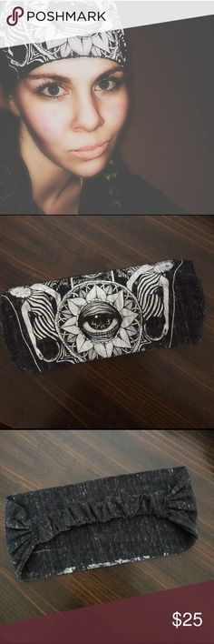 👁🗨All Seeing Eye Headband👁🗨 Purchased from a small online custom print shop. Never really wore it. New condition.  #'s providence all seeing horus evil eye symbol chakra ancient egypt holy trinity christian hinduism buddha shiva watchful third protection healing Accessories Hair Accessories