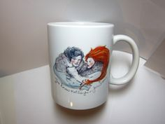 Game of Thrones Jon Snow and Ygritte 11oz mug by sketch123 on Etsy, $15.00